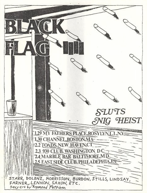Black Flag-Sluts-Nig Heist @ Baltimore MD 2-4-83