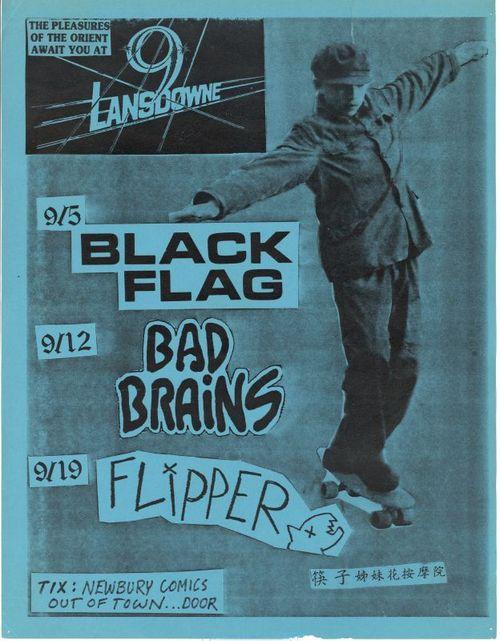 Black Flag-Bad Brains-Flipper @ Boston MA UNKNOWN YEAR
