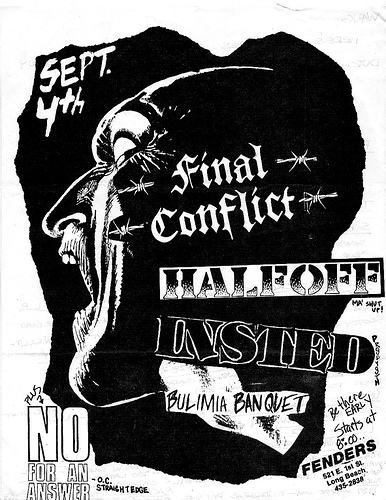 No For An Answer-Final Conflict-Half Off-Insted-Bulimia Banquet @ Long Beach CA 9-4-UNKNOWN YEAR