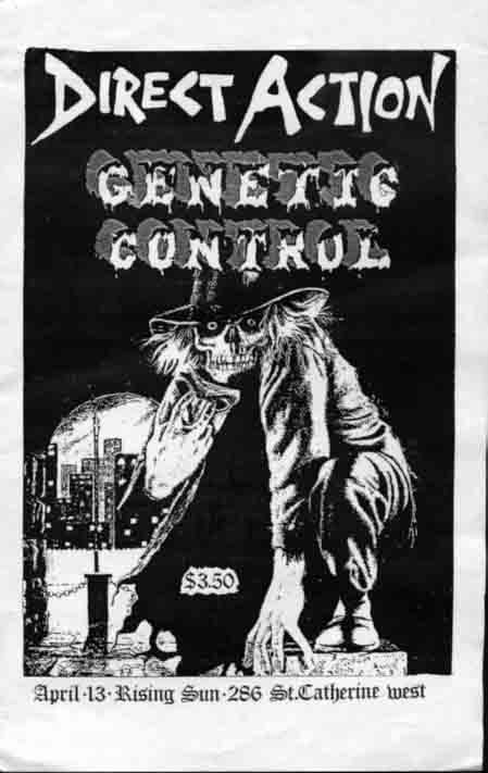 Direct Action-Genetic Control @ Montreal Canada 4-13-85