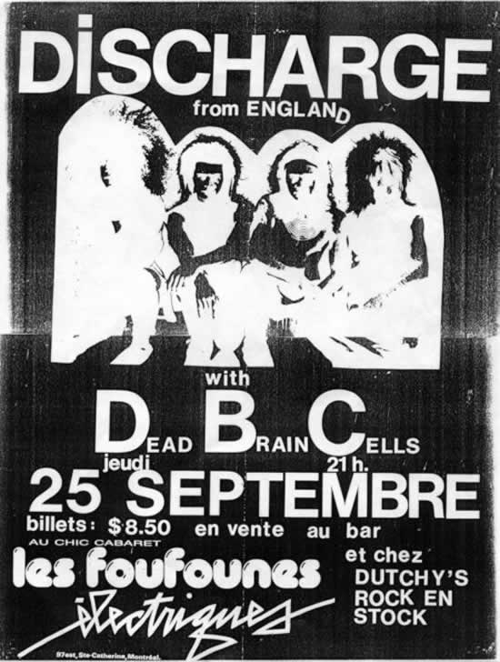 Discharge-Dead Brain Cells @ Montreal Canada 9-25-86