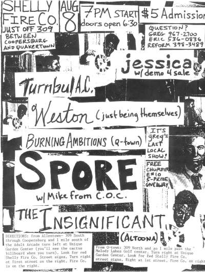 Jessica-Turnball AC-Weston-Burning Ambition-Spore-The Insignificant @ Quackertown PA 8-8-UNKNOWN YEAR