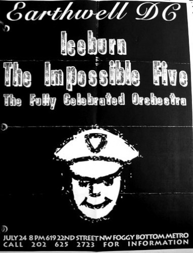 Earthwell DC-Iceburn-The Impossible Five-The Fully Celebrated Orchestra @ Washington DC 7-24-UNKNOWN YEAR