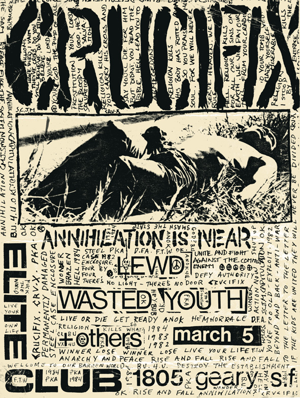 Crucifix-Lewd-Wasted Youth @ San Francisco CA 3-5-UNKNOWN YEAR