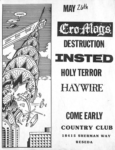 Cro Mags-Destruction-Insted-Holy Terror-Haywire @ Reseda CA 5-26-89
