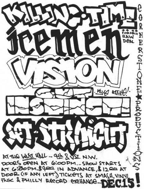 Killing Time-The Icemen-Vision-Gut Instinct-Set Straight @ Washington DC 12-15-89