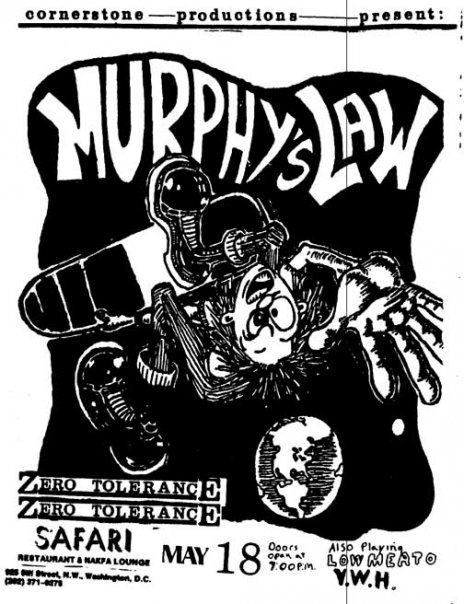 Murphy's Law-Zero Tolerance @ Washington DC 5-18-UNKNOWN YEAR