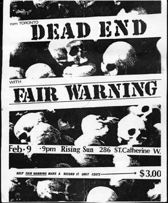Dead End-Fair Warning @ Montreal Canada 2-9-85