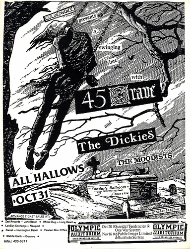 45 Grave-The Dickies-The Moodists @ Los Angeles CA 10-31-UNKNOWN YEAR