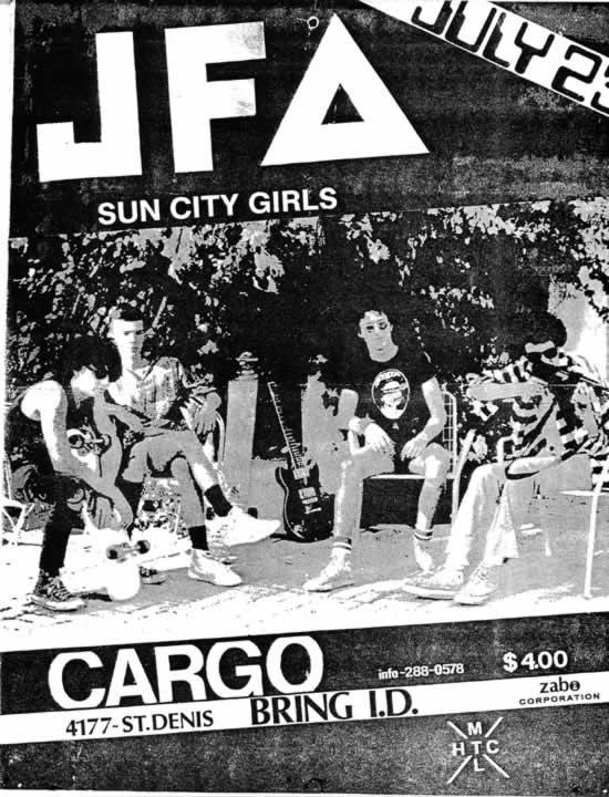 JFA-Sun City Girls @ Montreal Canada 7-23-84