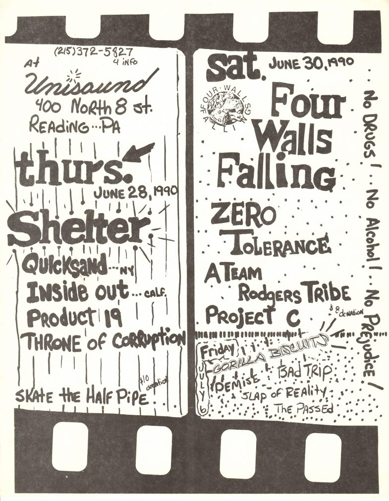 Four Walls Falling-Zero Tolerance-A Team Rodgers Tribe-Project C @ Allentown PA 6-30-90