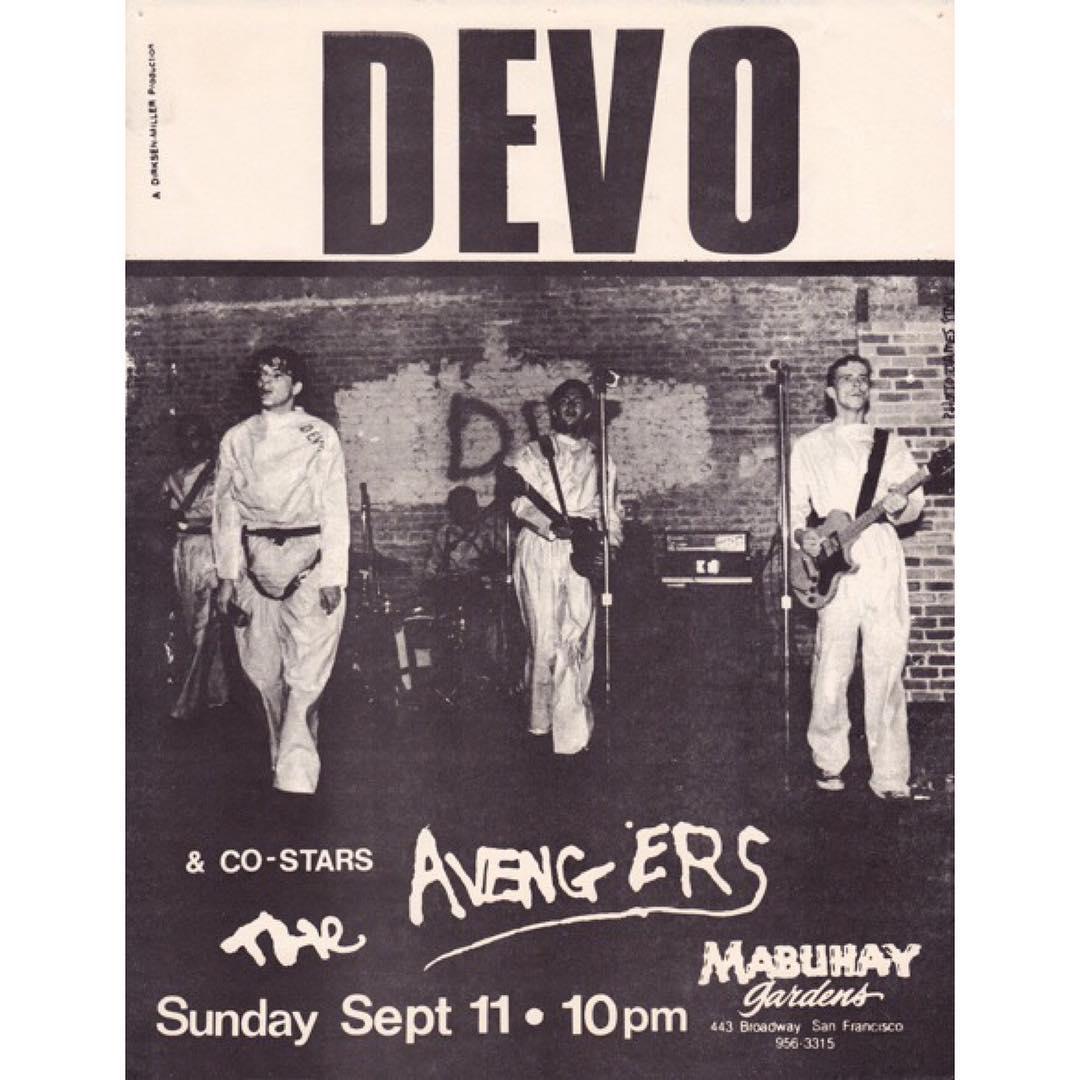 Devo-The Avengers @ San Francisco CA 9-11-77