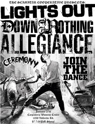 Lights Out-Down To Nothing-Allegiance-Ceremony-Join The Dance