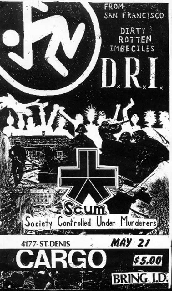 DRI-Scum @ Montreal Canada 5-21-84