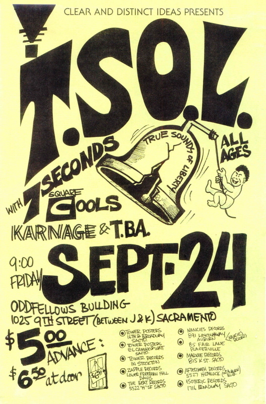 True Sounds Of Liberty-7 Seconds-Square Cools-Karnage @ Sacramento CA 9-24-UNKNOWN YEAR
