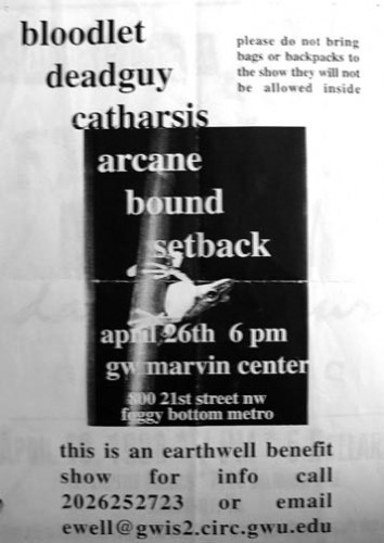 Bloodlet-Deadguy-Catharsis-Arcane-Bound-Set Back @ Washington DC 4-26-UNKNOWN YEAR