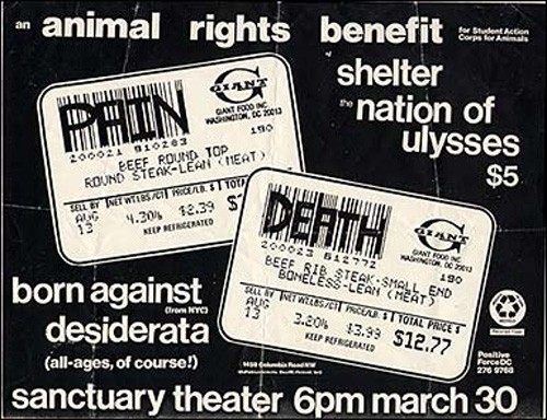 Shelter-Nation Of Ulysses-Born Against-Desiderata @ Washington DC 3-30-UNKNOWN YEAR