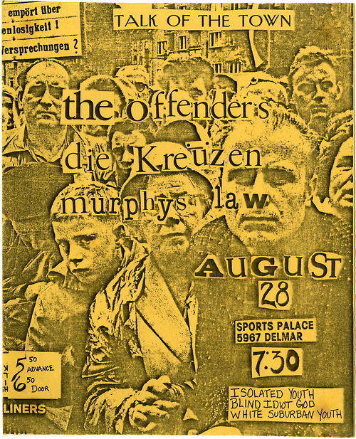 The Offenders-Die Kreuzen-Murphy's Law-Isolated Youth-Blind Idiot God-White Suburban Youth @ St. Louis MO 8-28-UNKNOWN YEAR