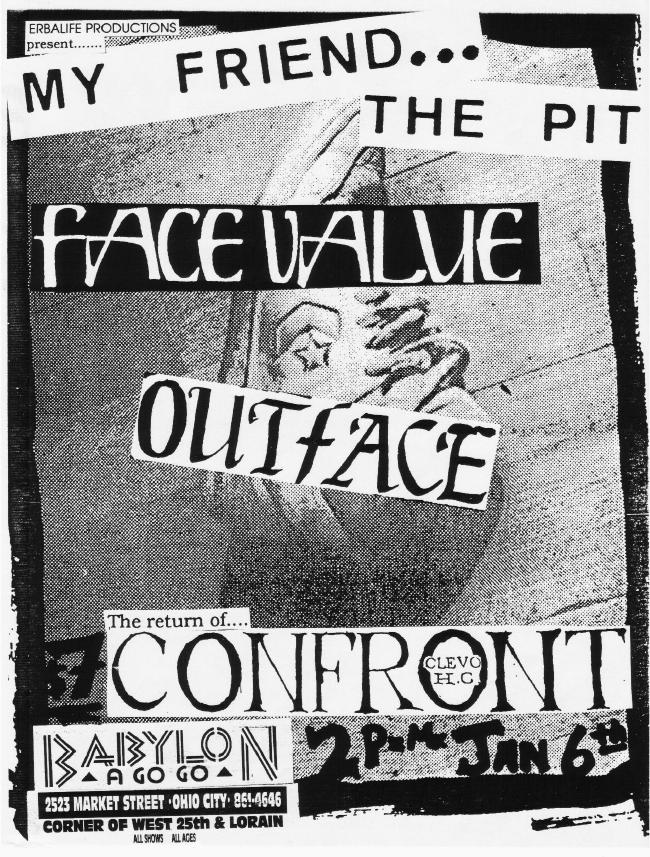 Face Value-Outface-Confront @ Ohio City OH 1-6-89