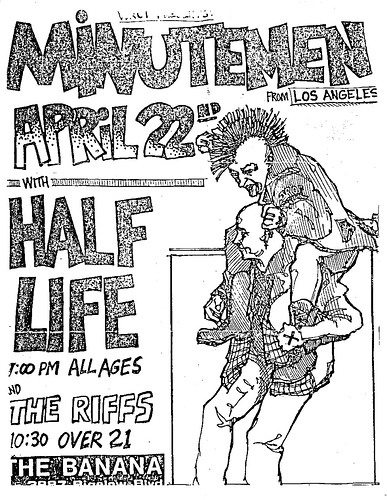 Minutemen-Half Life @ Pittsburgh PA 4-22-UNKNOWN YEAR
