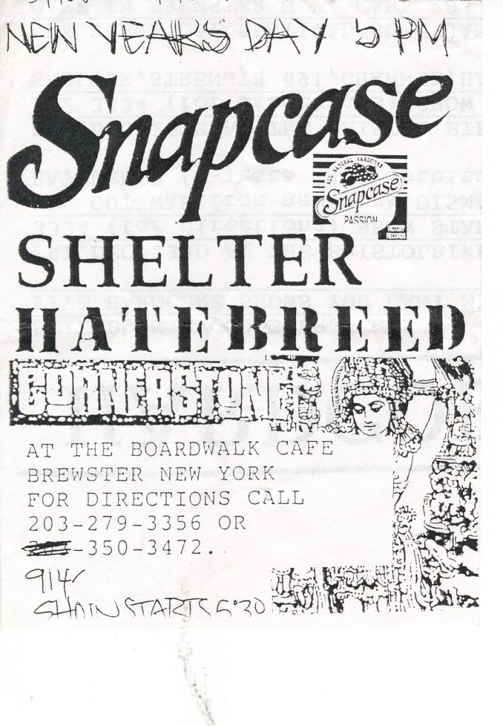 Snapcase-Shelter-Hatebreed-Cornerstone @ Brewster NY 1-1-UNKNOWN YEAR
