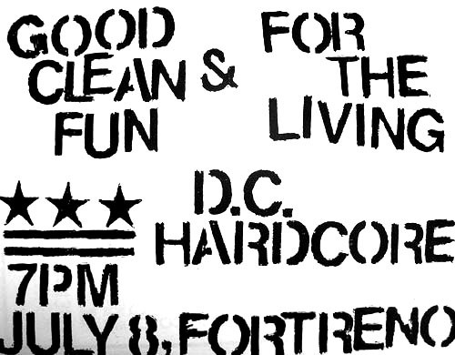 Good Clean Fun-For The Living @ Washington DC 7-8-UNKNOWN YEAR