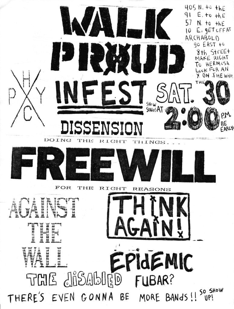 Walk Proud-Infest-Dissension-Free Will-Against The Wall-Think Again