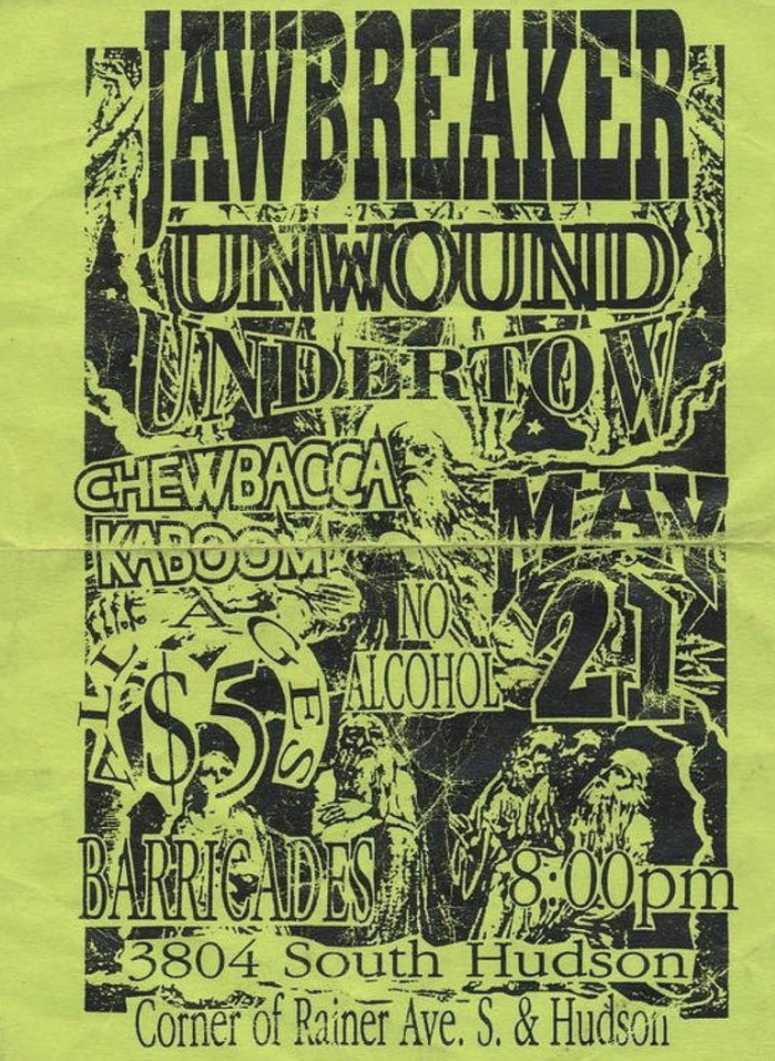 Jawbreaker-Unwound-Undertow-Chewbacca Kaboom @ Seattle WA 5-21-UNKNOWN YEAR
