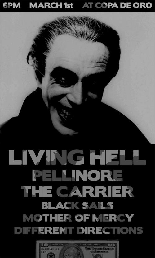 Living Hell-Pellinore-The Carrier-Black Sails-Mother Of Mercy-Different Directions