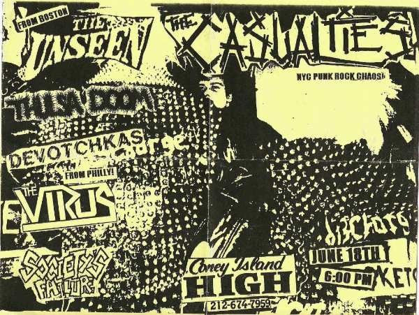The Unseen-Tulsa Doom-Devotchkas-The Virus-The Casualties @ New York City NY 6-18-UNKNOWN YEAR
