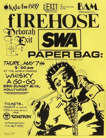 fIREHOSE-SWA-Paper Bag @ Hollywood CA 5-7-87