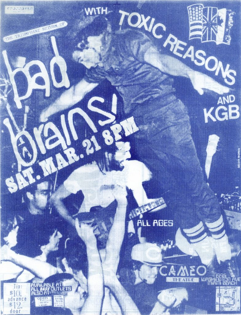 Bad Brains-Toxic Reasons-KGB @ Miami FL 3-21-87