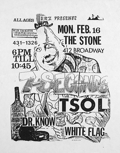 7 Seconds-True Sounds Of Liberty-Dr. Know-White Flag @ San Francisco CA 2-16-87
