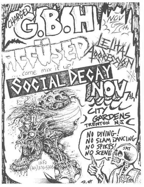 GBH-The Accused-Lethal Aggression-Social Decay @ Trenton NJ 11-7-87