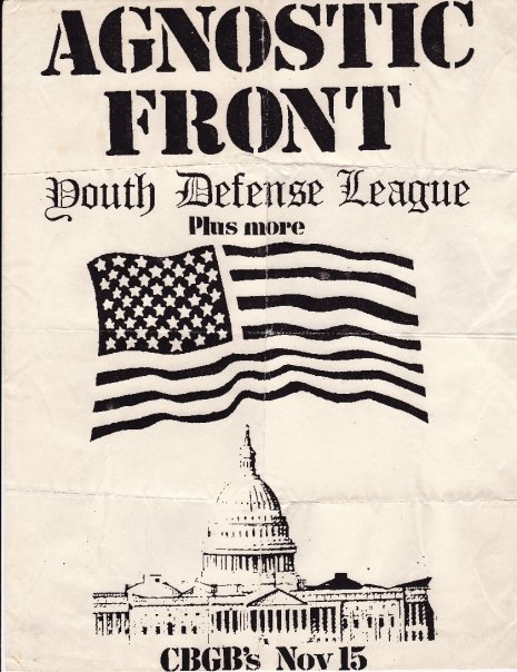 Agnostic Front-Youth Defense League @ New York City NY 11-15-87