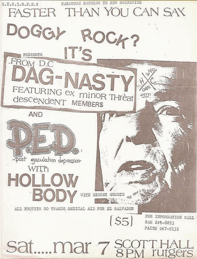 Dag Nasty-Post Ejaculation Depression-Hollow Body @ New Brunswick NJ 3-7-87