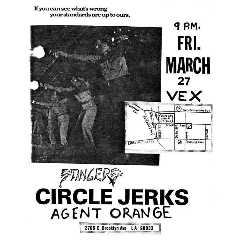 Agent Orange-Circle Jerks @ San Bernadino CA 3-27-87