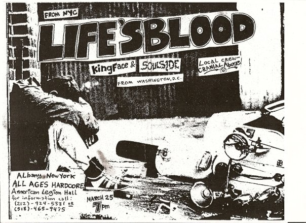 Life's Blood-King Face-Soul Side-Cranial Abuse @ Albany NY 3-25-87