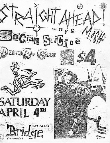Straight Ahead-Social Suicide-Death Of Gods @ New York City NY 4-4-87