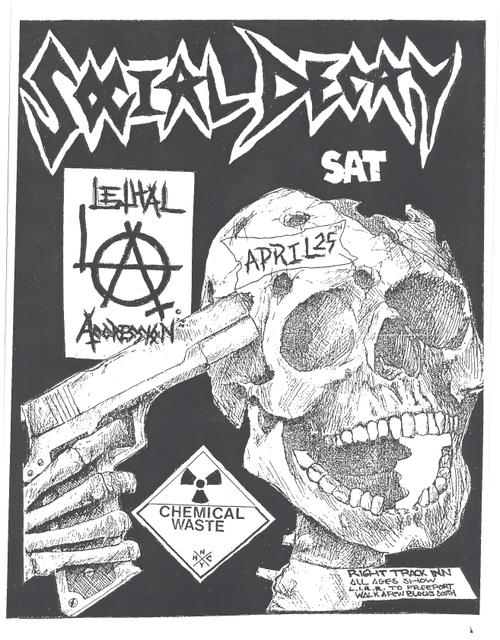 Social Decay-Lethal Aggression-Chemical Waste @ Newport NY 4-25-87