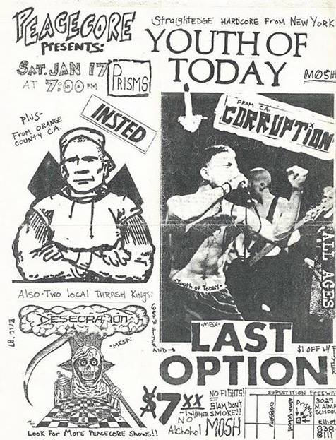 Youth Of Today-Insted-Corruption-Last Option @ Chandler AZ 1-17-87