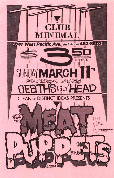 Meat Puppets-Shangai Dogs-Death's Ugly Head @ Sacramento CA 3-11-87