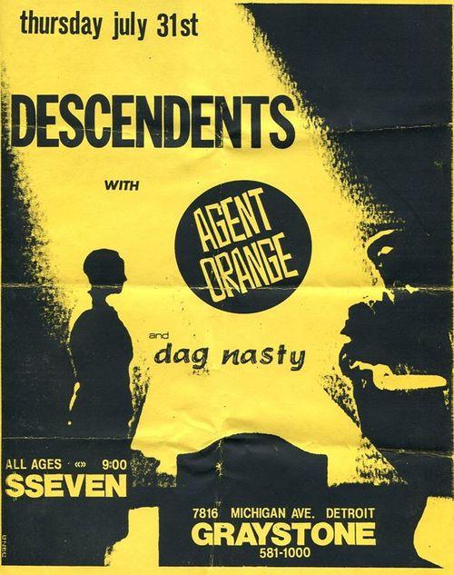 Descendents-Agent Orange-Dag Nasty @ Detroit MI 7-31-87