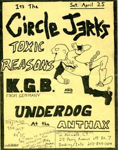Circle Jerks-Toxic Reasons-KGB-Underdog @ Norwalk CT 4-25-87