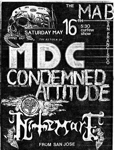 MDC-Condemned Attitude-Nightmare @ San Francisco CA 5-16-87