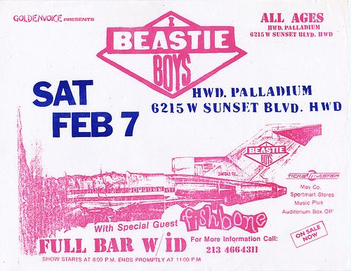 Beastie Boys-Fishbone @ Hollywood CA 2-7-87