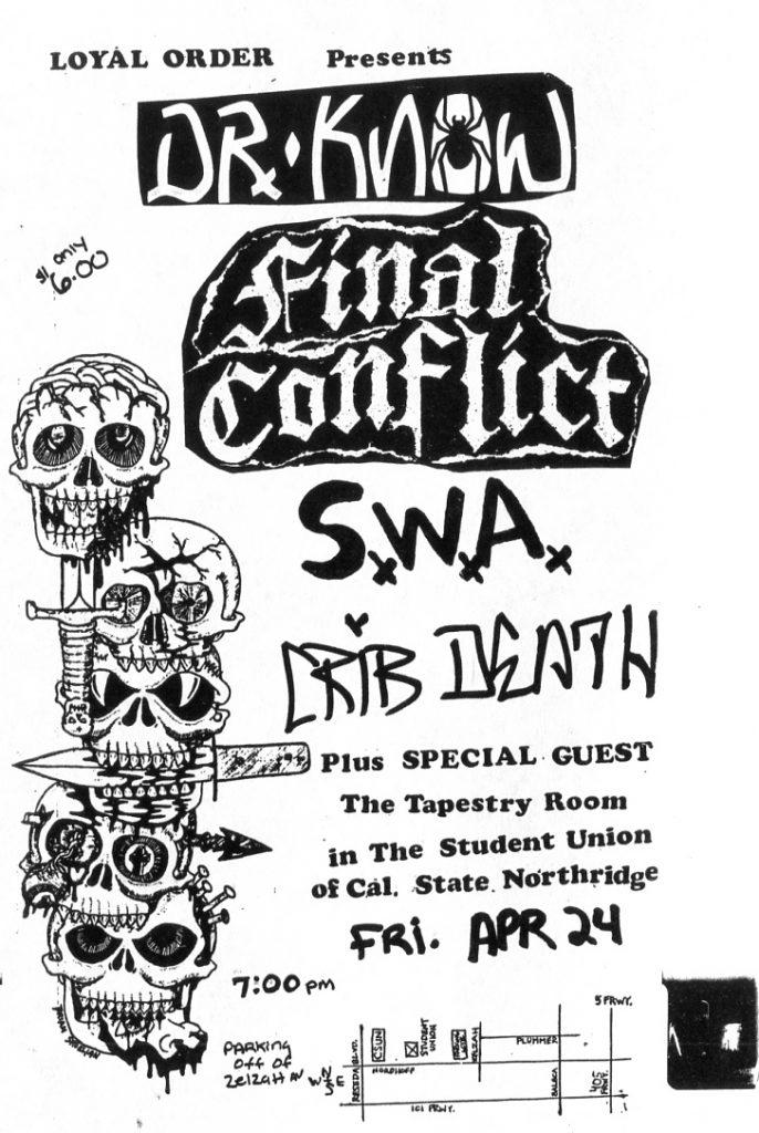 Dr. Know-Final Conflict-SWA-Crib Death @ Northridge CA 4-24-87