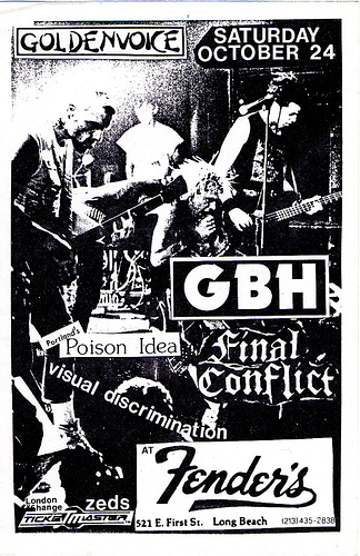 GBH-Poison Idea-Final Conflict-Visual Discrimination @ Long Beach CA 10-24-87