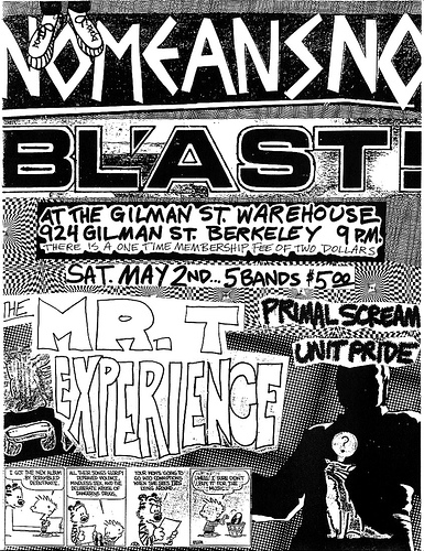 No Means No-Bl'ast!-Mr. T Experience-Primal Scream-Unit Pride @ Berkeley CA 5-2-87