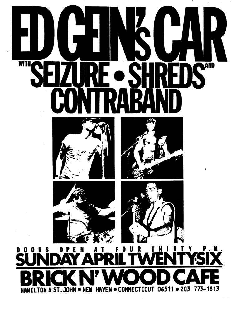 Ed Gein's Car-Seizure-Shreds-Contra Band @ New Haven CT 4-26-87